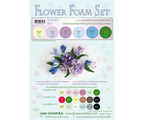 Leane Creatief Flower Foam A4 Set 7 Blue-Violet (25.4971)