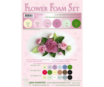 Leane Creatief Flower Foam A4 Set 8 Old Rose (25.4988)