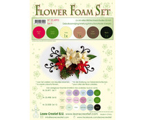 Leane Creatief Flower Foam A4 Set 9 Brown-Red-Green (25.4995)