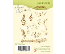 Leane Creatief Music Clear Stamp (55.5701)