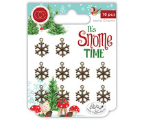 Craft Consortium It's Snome Time Metal Charms Snowflakes (CCMCHRM007)