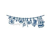 Tattered Lace Baby Boy Washing Line (ACD750)