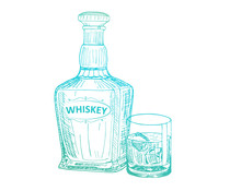 Couture Creations Whiskey Mini Stamp (CO726843)