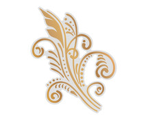 Couture Creations Art Deco Flourish Cut, Foil and Emboss Die (CO726853)