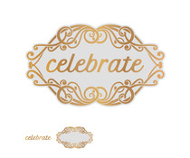 Couture Creations Celebrate Tag Cut, Foil and Emboss Die (CO726855)