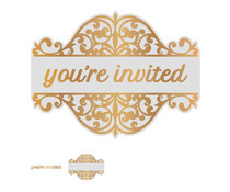Couture Creations You're Invited Tag Cut, Foil and Emboss Die Set (CO726856)