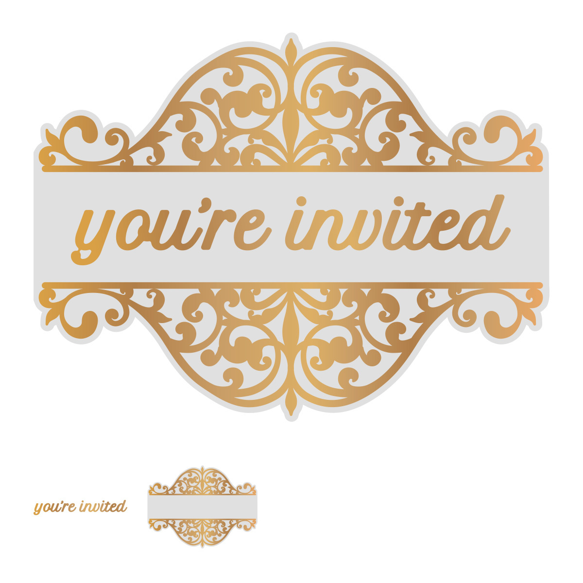 You/'Re Invited Noteworthy Die-Cuts