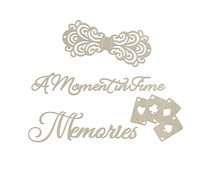 Couture Creations Moments and Memories Chipboard Set (CO726869)