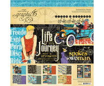 Graphic 45 Life's a Journey 12x12 Inch Collection Pack (4501946)