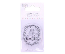 Simply Creative Deck the Halls Clear Stamp (SCSTP009X19)