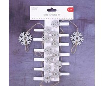 Simply Creative Christmas Card Hanging Kit Snowflakes (1.2m) (SCWDN023X19)