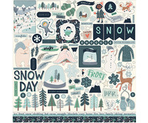 Carta Bella Snow Much Fun 12x12 Inch Element Sticker (CBSMF108014)