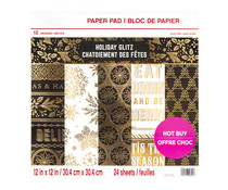 Craft Smith Holiday Glitz 12x12 Inch Paper Pad (MSE4859)