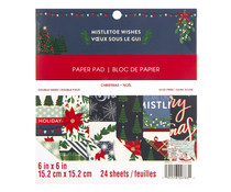 Craft Smith Mistletoe Wishes 6x6 Inch Paper Pad (MSE4871)