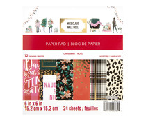 Craft Smith Miss Claus 6x6 Inch Paper Pad (MSE4873)