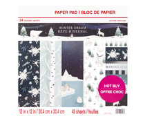 Craft Smith Winter Dream 12x12 Inch Paper Pad (MSE4852)