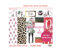 Craft Smith Miss Claus 12x12 Inch Paper Pad (MSE4854)