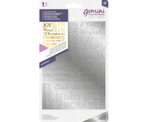 Gemini Foil Stamp Die Elements Festive Words Background (GEM-FS-ELE-FWBA)