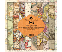 Dixi Craft Paper Favourites Vintage Maps 6x6 Inch Paper Pack (PF103)