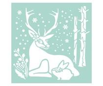 Stamperia Thick Stencil 18x18cm Reindeer & Rabbit (KSTDQ29)