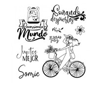 Stamperia Bycicle Clear Stamps (WTKJR01)