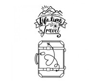 Stamperia Suitcase Life Time Clear Stamps (WTKJR15)