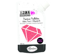 Aladine Izink Diamond Glitter Paint 24 Carats Red 80ml (80316)