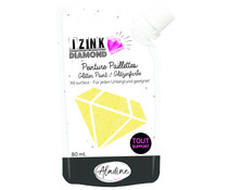 Aladine Izink Diamond Glitter Paint 24 Carats Yellow 80ml (80319)