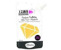 Aladine Izink Diamond Glitter Paint 24 Carats Orange 80ml (20321)