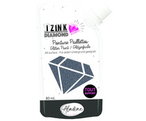 Aladine Izink Diamond Glitter Paint 24 Carats Black 80ml (80323)