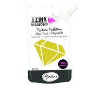 Aladine Izink Diamond Glitter Paint 24 Carats Light Gold 80ml (80326)