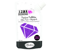 Aladine Izink Diamond Glitter Paint 24 Carats Purple 80ml (80329)