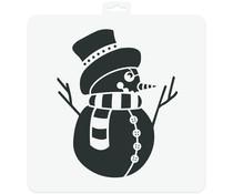 Aladine Snowman 28x28cm Stencil (81032)