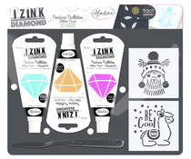 Aladine Izink Diamond Glitter Paint Kit Llama (85208)