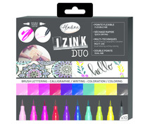 Aladine Izink Duo Brush Lettering Set (10pcs) (85530)