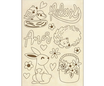 Stamperia Wooden Shapes A6 Amor Rabbit (KLSPA606)