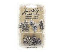 Idea-ology Tim Holtz Adornments Festive (10pcs) (TH93990)