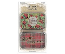 Idea-ology Tim Holtz Trinket Tins Christmas (2pcs) (TH94005)