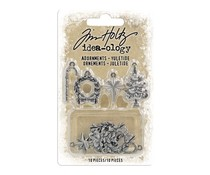 Idea-ology Tim Holtz Adornments Yuletide (10pcs) (TH94008)