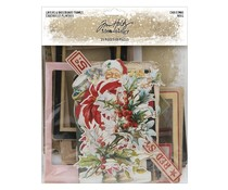 Idea-ology Tim Holtz Layers & Baseboard Frames Christmas (25pcs) (TH94017)