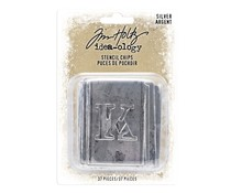 Idea-ology Tim Holtz Stencil Chips Silver (37pcs) (TH94018)