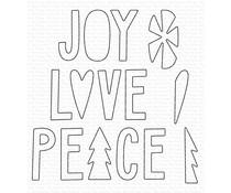 My Favorite Things Joy, Love, and Peace Die-namics (MFT-1611)