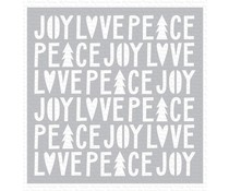 My Favorite Things Peace, Love, and Joy Stencil (ST-124)