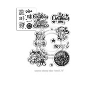 Polkadoodles Merry & Bright Christmas Greetings Clear Stamps (PD7967)
