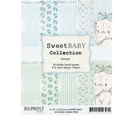 Reprint Sweet Baby Blue 6x6 Inch Paper Pack (RPP024)