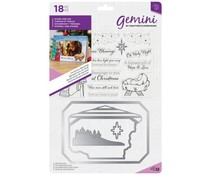 Gemini Christmas Blessings Photo Frame Stamp & Dies (GEM-STD-CHBLE)