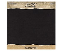 Idea-ology Tim Holtz Kraft-Stock 8x8 Inch Paper Stash Blackout (TH94020)
