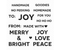 My Favorite Things Holiday Tag Talk Clear Stamps (CS-423)