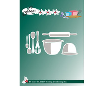 By Lene Baking Equipment 1 Cutting & Embossing Dies (BLD1215)