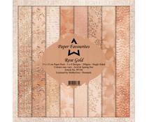 Dixi Craft Rose Gold 6x6 Inch Paper Pack (PF106)